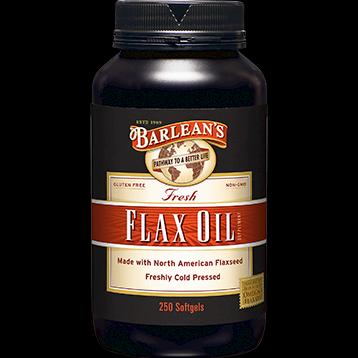 Flax Oil Capsules (1000 mg 250 capsules) Barleans Organic Oils