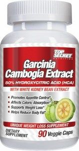 Garcinia Cambogia Extract 50% HCA (90 v-caps) Top Secret Nutrition