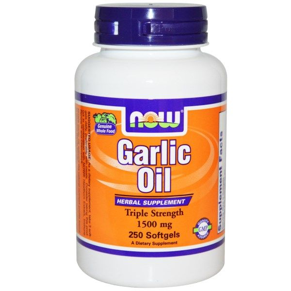 Garlic Oil 1500mg (250 softgels) NOW Foods
