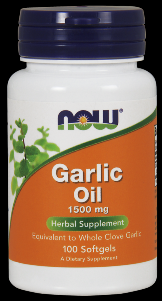 Garlic Oil (100 softgels 1500 mg) NOW Foods