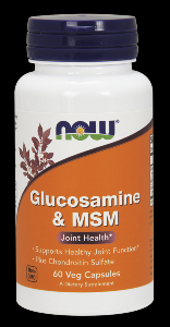 Glucosamine & M.S.M (60 Caps  750/250 mg) NOW Foods