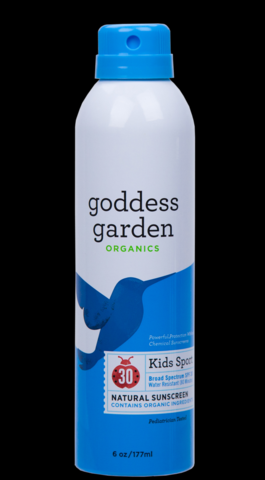 Kids Sport Sunscreen SPF 30  6oz Spray* Goddess Garden Organics