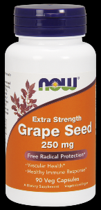 Grape Seed Extract (90 Vcaps 250 mg) NOW Foods