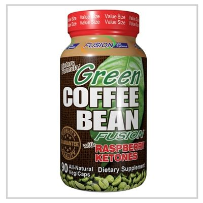 Green Coffee Bean Fusion with Raspberry Ketones (90 vcaps) Nutri-Fusion Systems