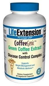 CoffeeGenic Green Coffee Extract with Glucose Control Complex (90 Vcaps)* Life Extension