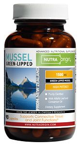 Green Lipped Mussel Capsules (1500 mg - 90 caps) NutraOrigin