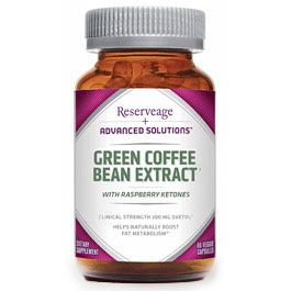 Green Coffee Bean Extract Svetol plus Natural Raspberry Ketones (60 vcaps)* ReserveAge Organics