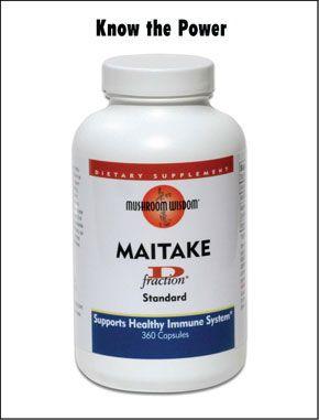 Maitake D Fraction (360 capsules)* Mushroom Wisdom