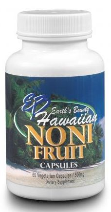Hawaiian Noni Fruit Capsules, 500 mg, 60 vcaps Earth's Bounty