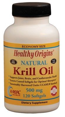 Natural Krill Oil (500 mg 120 softgels) Healthy Origins