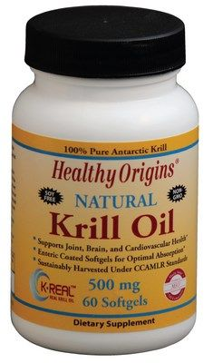 Natural Krill Oil (500 mg 60 softgels) Healthy Origins