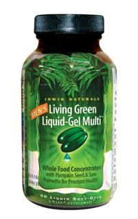 Living Green Liquid-Gel Multi for Men (90 softgels)* Irwin Naturals
