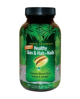 Nutrient Rich Healthy Skin & Hair plus Nails (60 softgels) Irwin Naturals