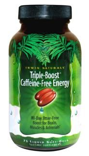 Triple Boost Caffeine-Free Energy(75 softgels) Irwin Naturals