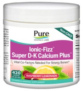 Ionic-Fizz Super D-K Calcium Plus (420 gm)* Pure Essence Labs