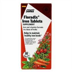 Flora Floradix Iron Tablets (80 tabs) Flora Health, Floradix