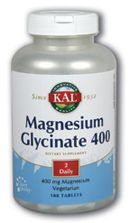 Magnesium Glycinate 400 (180 tablets) KAL