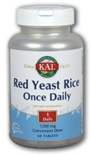 Red Yeast Rice Once Daily (1200 mg - 60 tabs) KAL