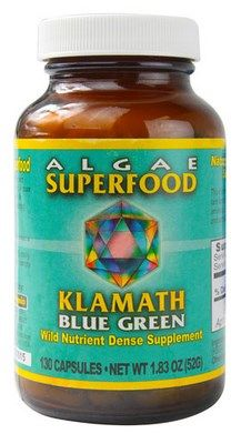 Klamath Blue Green Algae (400 mg 130 capsules) Power Organics