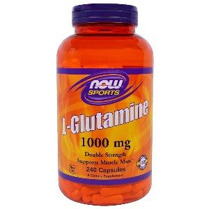 L-Glutamine (240 capsules-1000mg) NOW Foods