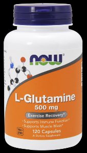 L-Glutamine 500 mg (120 capsules-500 mg) NOW Foods