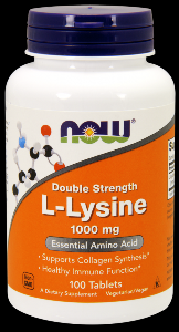 L-Lysine 1,000 mg (100 Tabs) NOW Foods