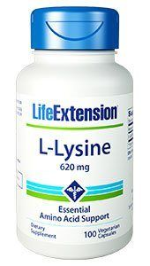 L-Lysine (620 mg 100 v-caps)* Life Extension
