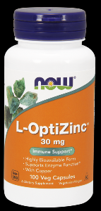 L-Optizinc (100 Caps 30 mg) NOW Foods