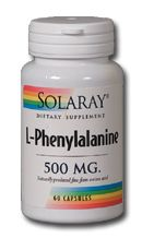 Free Form  L-Phenylalanine (500 mg 60 capsules) Solaray Vitamins