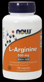 L-Arginine 500 mg (100 Caps) NOW Foods