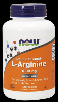 L-Arginine 1000 mg (120 Tabs) NOW Foods