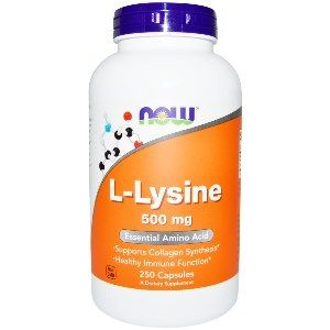 L-Lysine 500 mg (250 Caps) NOW Foods