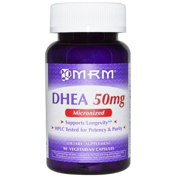 DHEA Micronized 50mg (90 V Caps) Metabolic Response Modifiers