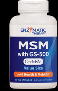 MSM with GS-500 (180 veg caps) Enzymatic Therapy