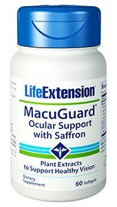 MacuGuard Ocular Support with Saffron (60 softgels)* Life Extension