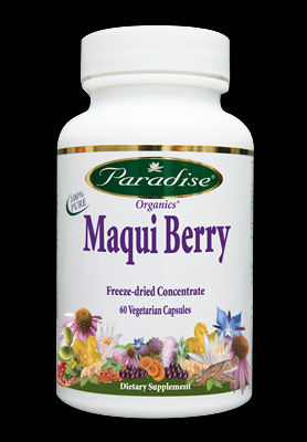 Maqui Berry - Organic Freeze-dried  (400mg 60 vcaps) Paradise Herbs