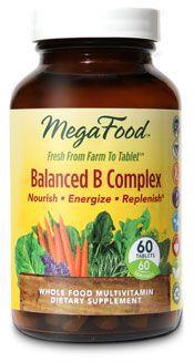 Balanced B Complex (90 tablets)* MegaFood