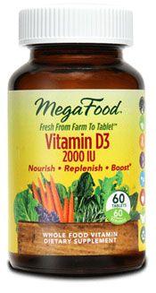 Vitamin D-3 (2000 IU 90 capsules) MegaFood
