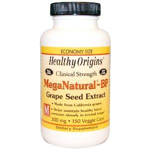 MegaNaturaI BP Grape Seed Extract 300mg (150 capsules) Healthy Origins