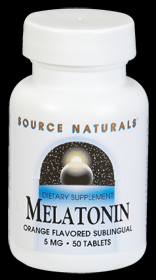 Melatonin 5mg Orange Sublingual (50 Tabs) Source Naturals