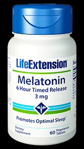 Melatonin 6 Hour Timed Release (3 mg 60 vtabs Life Extension