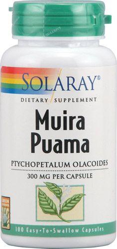 Muira Puama (300 mg, 100 capsules) Solaray Vitamins
