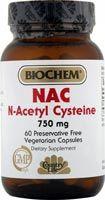 Biochem NAC (N-Acetyl-Cysteine) 750 mg (60 Caps) Country Life
