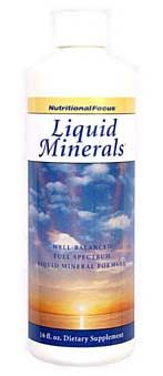 Liquid Minerals* (16 oz)* Nutritional Focus