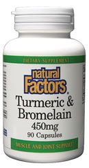 Turmeric (300mg) | Bromelain (450mg) (90 caps)* Natural Factors