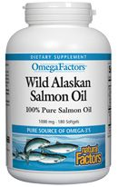 Wild Alaskan Salmon Oil (180 gels)* Natural Factors