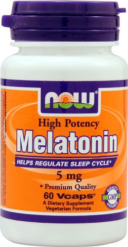 Melatonin 5mg (60 vaps) NOW Foods
