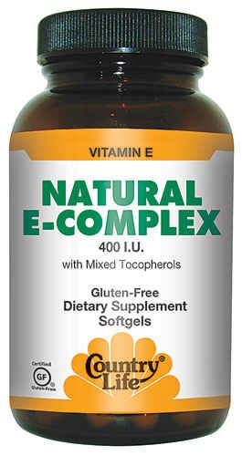 Natural E-Complex with Mixed Tocopherols (400 IU 180 softgels) Country Life