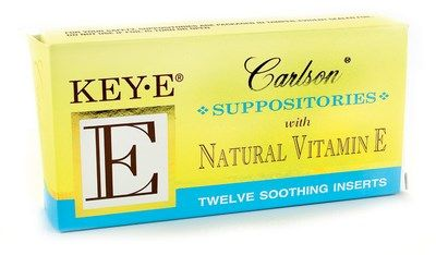 Key-E Suppositories (12 soothing inserts) Carlson Labs