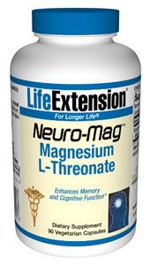 Neuro-Mag Magnesium L-Threonate (90 v-caps)* Life Extension
